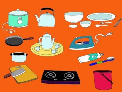 Từ vựng tiếng Hàn về đồ dùng gia đình